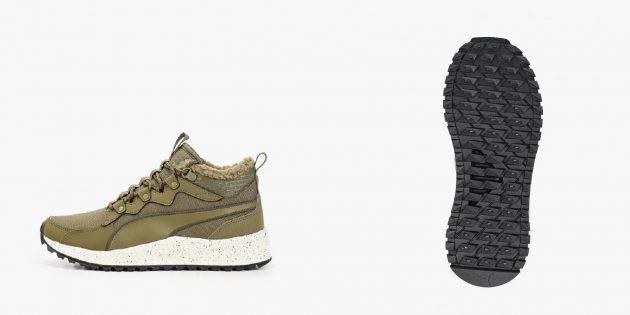Зимние кроссовки с нескользящей подошвой