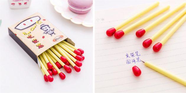 Канцелярские принадлежности: ручки-спички