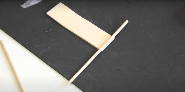 Поделки из фоамирана своими руками: приклейте палочку к прямоугольнику
