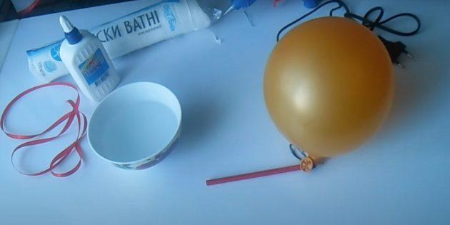 Поделки из ватных дисков: Надуйте шарик