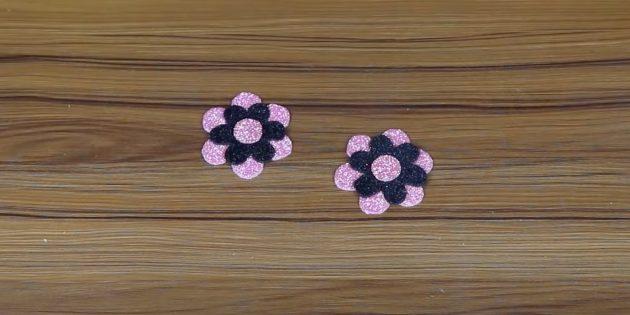 Поделки из фоамирана своими руками: сделайте сердцевину и второй цветок