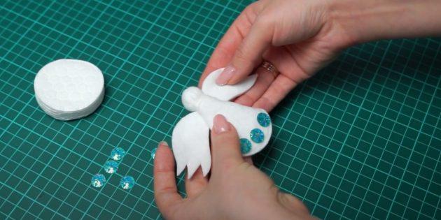 Поделки из ватных дисков: Сделайте руки