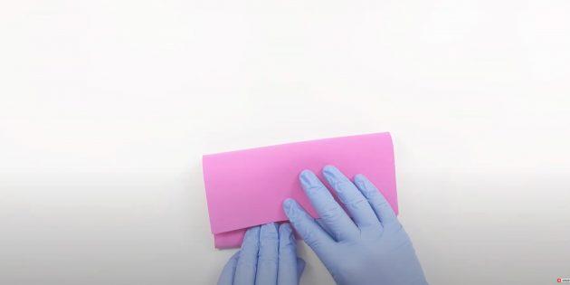 Поделки из фоамирана своими руками: согните лист