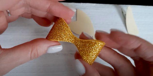Поделки из фоамирана своими руками: сделайте золотой бант