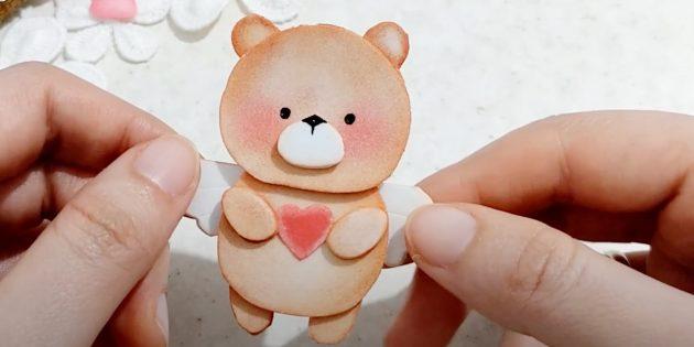 Медведь из фоамирана