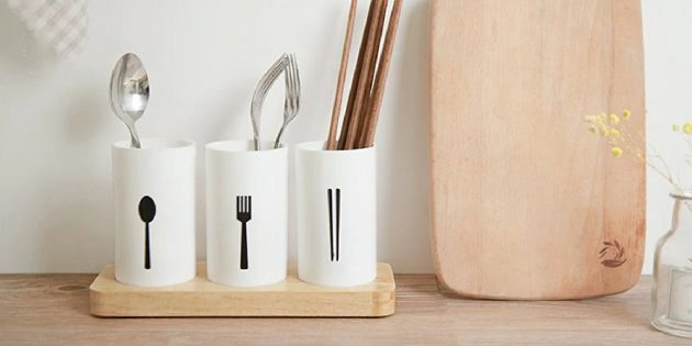 Стаканы для столовых приборов