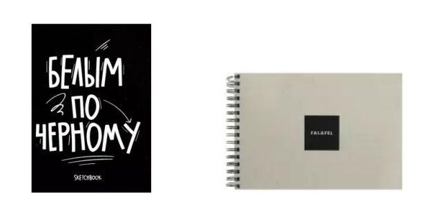 Что подарить женщине на 8Марта: скетчбук с чёрными листами