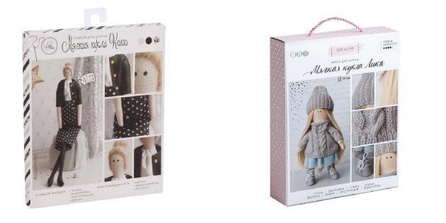 Подарки женщине на 8Марта: набор для шитья кукол