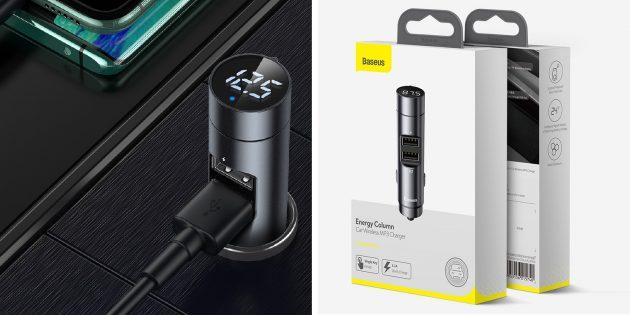 Многофункциональные устройства: автомобильный USB-адаптер, FM-трансмиттер, вольтметр