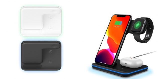 Многофункциональные устройства: беспроводная зарядка для смартфона, часов и наушников