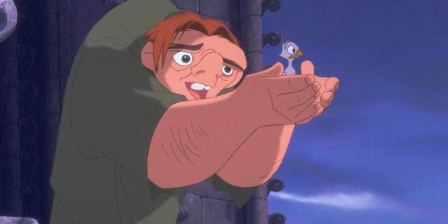 Кадр из мультфильма про любовь «Горбун из Нотр-Дама»