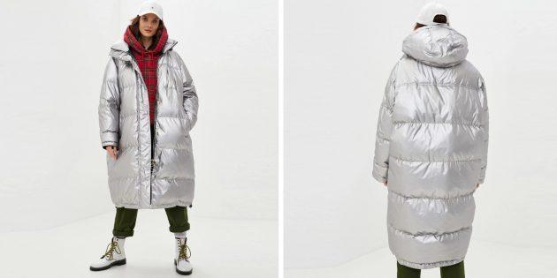 Зимние куртки: блестящая куртка