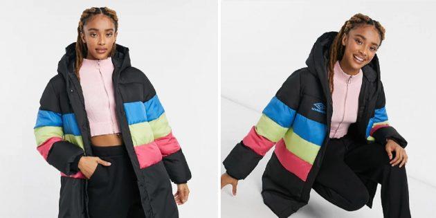 Зимние куртки: в стиле колор блок