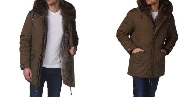 Зимние куртки: с отделкой из натурального меха