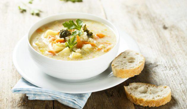 Сливочный суп из цветной капусты и брокколи