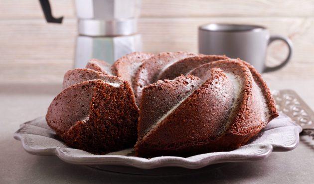 Шоколадный пирог с красным вином