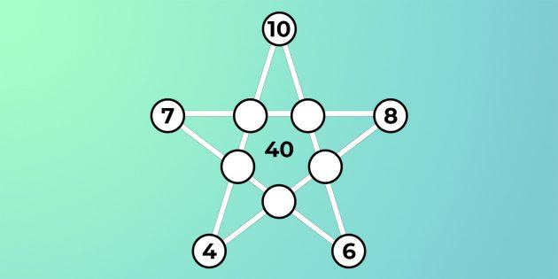 Определите числа в кружочках