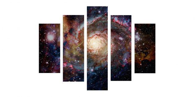 Модульная картина «Сияние галактик»