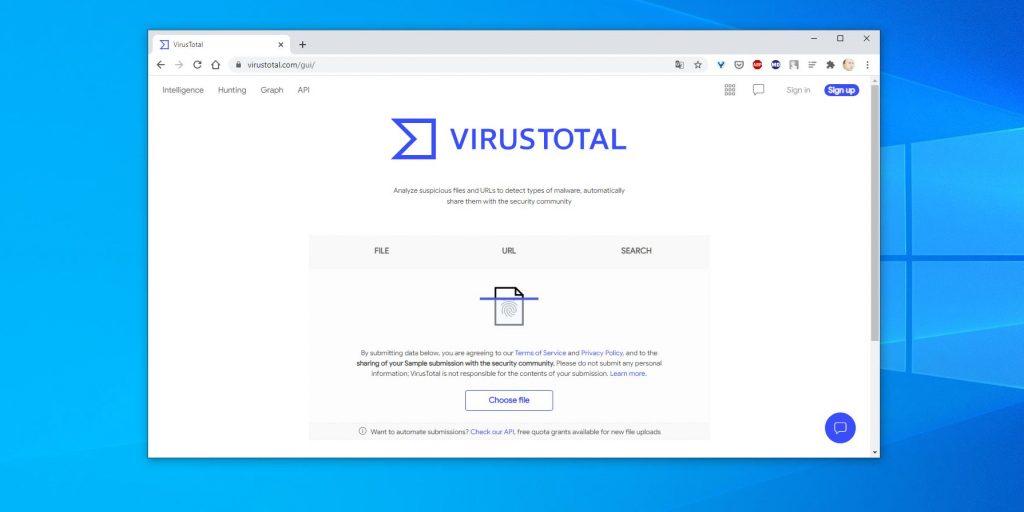 Как проверить на вирусы файлы: VirusTotal