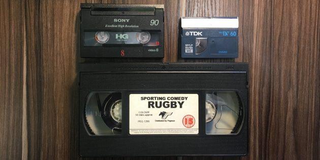 Оцифровка видеокассеты: кассеты Video8 (Digital8), miniDV и VHS