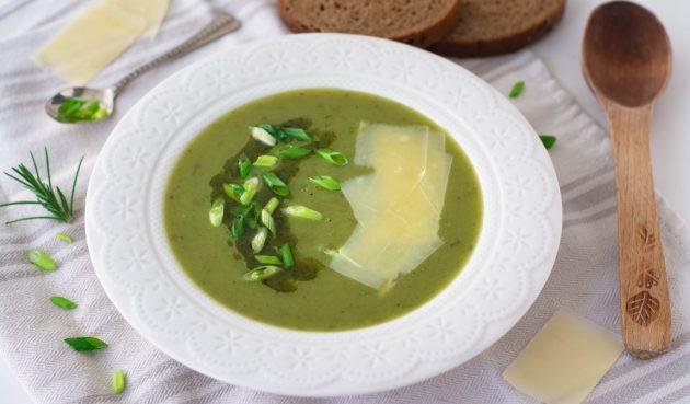 Суп-пюре с зелёным луком