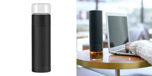 Термосы для напитков и еды: Xiaomi Pinztea Tea Water Separation Cup