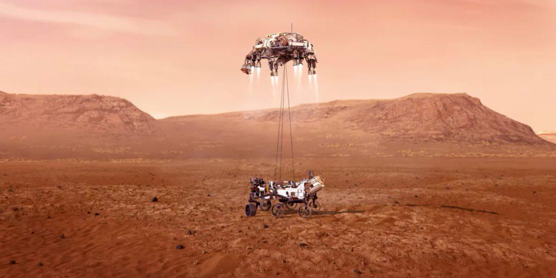 Ровер Perseverance совершил посадку на Марсе