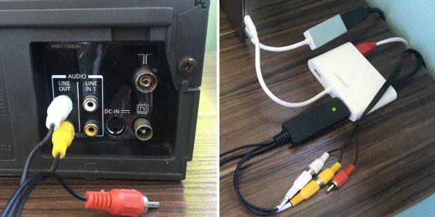 Оцифровка видеокассет: подключение видеоплеера