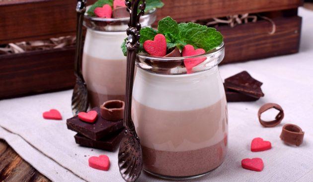 Слоёный шоколадный мусс