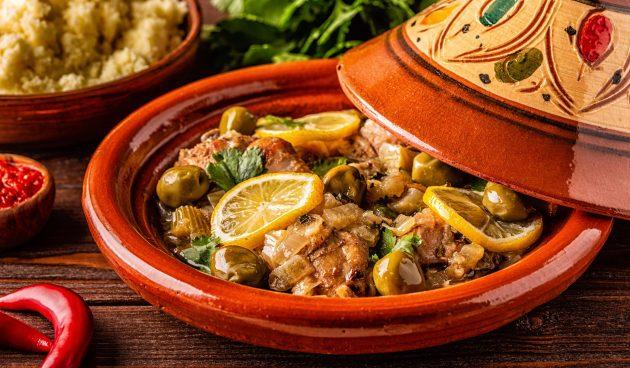 Тажин из курицы по-мароккански