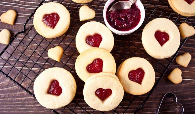 Простое печенье с джемом