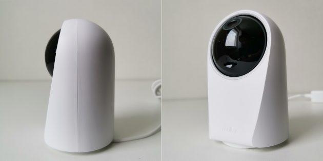 Карта памяти вставляется в слот под глазком объектива камеры Realme Smart Cam 360º