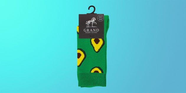 Что купить на 23 Февраля: носки с авокадо