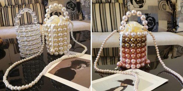 Необычная сумка из бусин