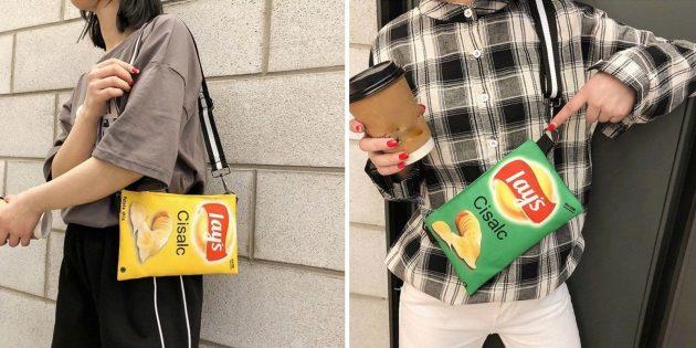 Необычная сумка в виде упаковки чипсов