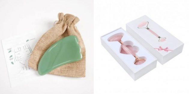 Оригинальные подарки на 8Марта: скребок гуаша и массажный ролик