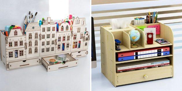 Подарки воспитателю на 8Марта: красивый органайзер на стол
