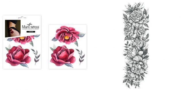Что подарить дочке на 8 Марта: переводные татуировки