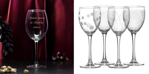 Что подарить подруге на 8 Марта: бокалы для вина