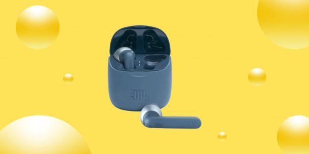 Выгодно: внутриканальные наушники JBL Tune 225TWS за 4 296  рублей