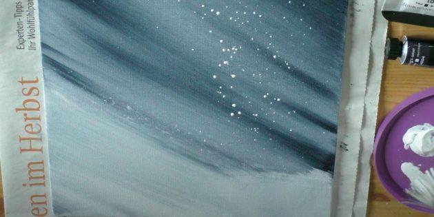 Как нарисовать подснежники: Добавьте снега