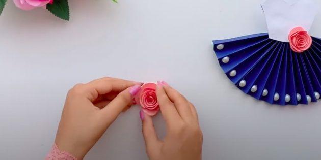 Поделки на 8Марта своими руками: сверните спираль розочкой