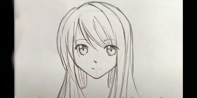 Девочка в стиле аниме