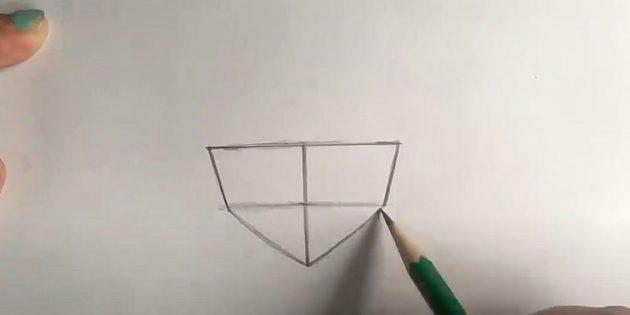Нарисуйте нижнюю часть лица девочки