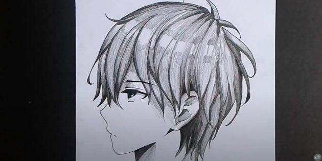Как нарисовать лицо мальчика в стиле аниме