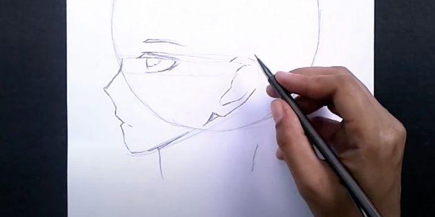 Как нарисовать лицо мальчика: изобразите ухо