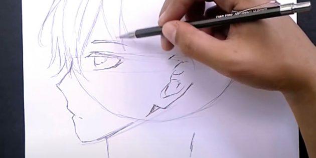 Нарисуйте чёлку