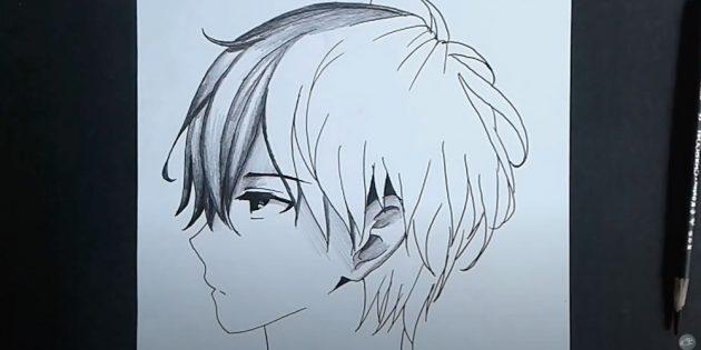 Как нарисовать лицо мальчика: добавьте на рисунок теней