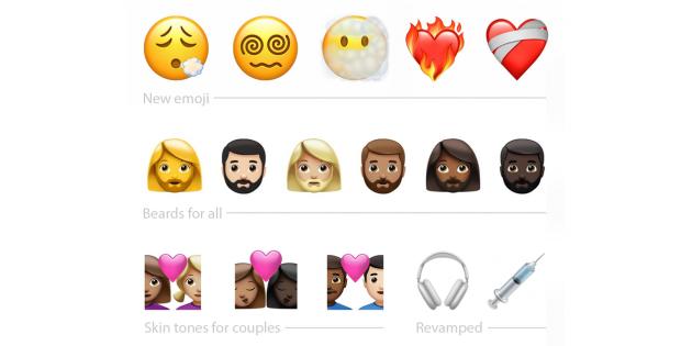 В iOS 14.5 появятся новые эмодзи и их модификации