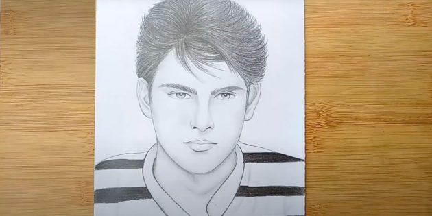 Как нарисовать реалистичное лицо мужчины
